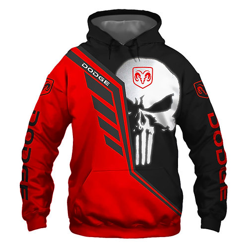 OFFICIAL-DODGE-RAM-PULLOVER-HOODIES/CUSTOM-3D-GRAPHIC-PRINTED-PUNISHER-SKULL!!