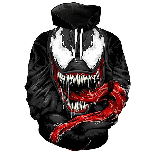 NEW-TRENDY-VENOM-SKULL-CHARACTER/NICE-3D-CUSTOM-GRAPHIC-PRINTED-PULLOVER-HOODIES