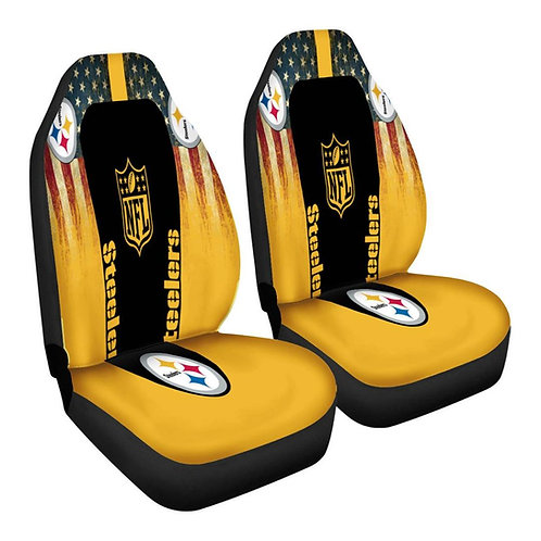 OFFICIAL-PITTSBURGH-STEELERS-TEAM-CAR-SEAT-COVERS/CUSTOM-3D-DESIGN-STEELERS-LOGO