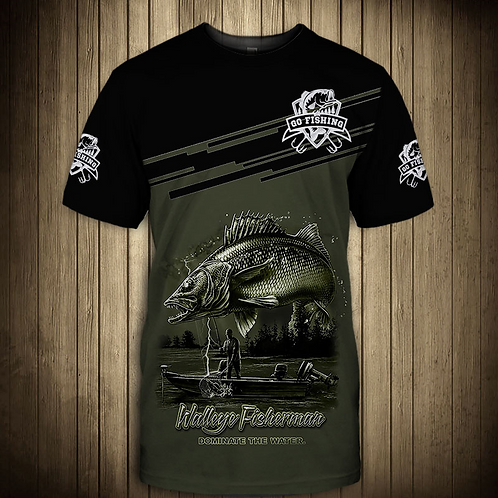 OFFICIAL-WALLEYE-FISHING-TRENDY-TEE-SHIRTS/NEW-CUSTOM-3D-PRINTED-THE-FISH-REAPER
