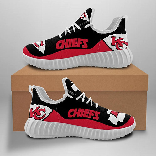 OFFICIAL-KANSAS-CITY-CHIEFS-TEAM-WHITE-SPORT-SHOES/CUSTOM-3D-DESIGN-CHIEFS-LOGOS