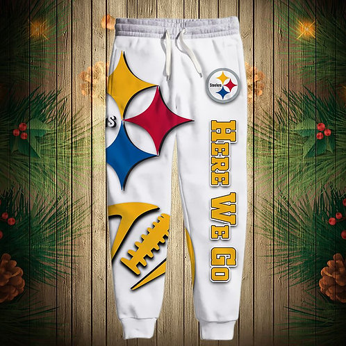OFFICIAL-N.F.L.PITTSBURGH-STEELERS-TEAM-SWEAT-PANTS/CUSTOM-3D-PRINTED-HERE-WE-GO