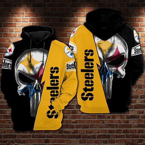 OFFICIAL-N.F.L.PITTSBURGH-STEELERS-PULLOVER-HOODIES/NEW-CUSTOM-3D-PUNISHER-SKULL