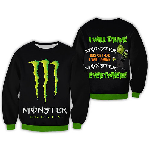 OFFICIAL-MONSTER-ENERGY-LONG-SLEEVE-TEE/CUSTOM-3D-GRAPHIC-PRINTED-MONSTER-GRINCH