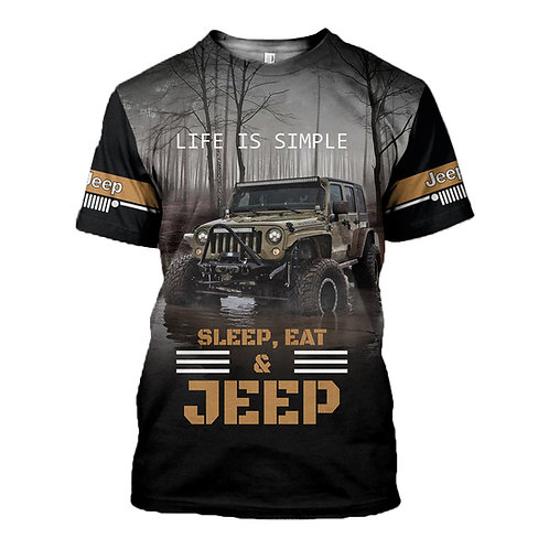 OFFICIAL-PREMIUM-JEEP-TEE-SHIRTS/CUSTOM-3D-GRAPHIC-PRINTED-DOUBLE-SIDED-DESIGN!!