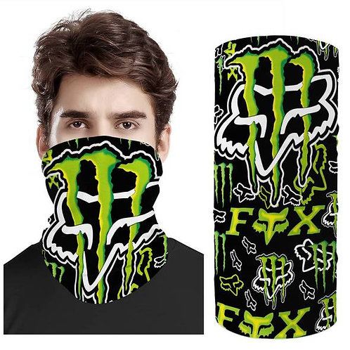 OFFICIAL-MONSTER-ENERGY/FOX-RACING-FACE & GAITER-NECK-SCARF/MULTI-USE-SPORT-MASK