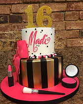 Sweet 16 Makeup party cake