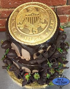 Texas A&M Ring cake grooms cake
