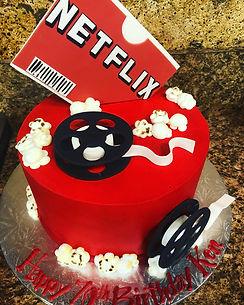 netflix, netflix and chill, cake
