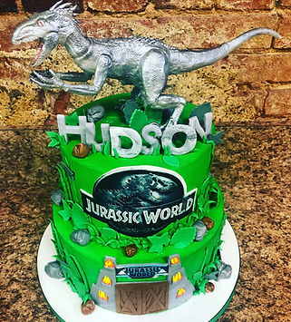 Jurassic Park birthday cake, jurassic world