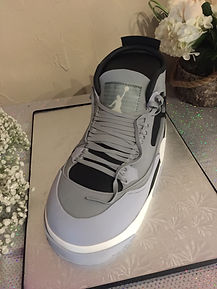 Air Jordans, shoe shaped cake