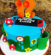 Super Mario Bros birthday cake