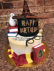 harry potter cake, snitch, sorting hat