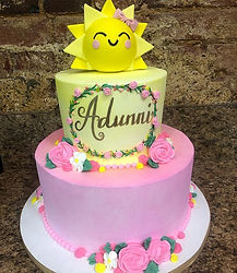 Little Sunshine 1st birthday cake _#litt