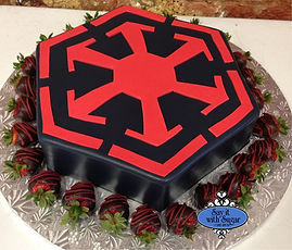 Star Wars cake, sith empire