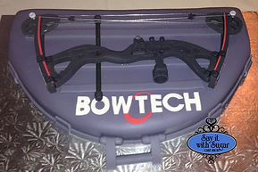 Bowtech bow grooms cake