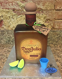 Don Julio tequilla bottle cake