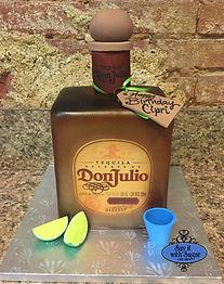 Don Julio tequilla bottle cake