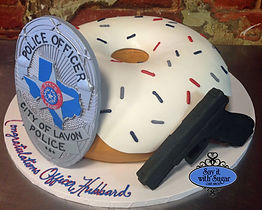 Police officer donut cake, police badge