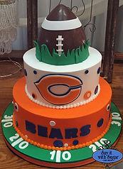 Chicago Bears cake, football cake