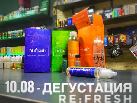 Дегустация украинской жижи для вейпа re:fresh