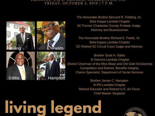 Alpha Phi Alpha Fraternity, Inc. Recognizes Charleston-area Residents During its 58th District Confe