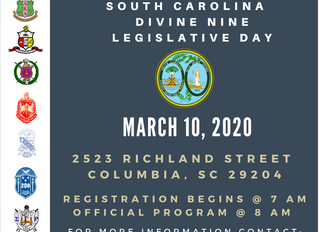 SAVE THE DATE: SC Divine Nine Legislative Day