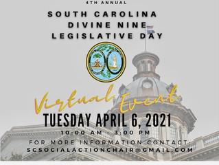 Register now for the 4th Annual South Carolina Divine Nine Legislative Day