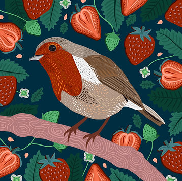 Robin & Strawberries.jpg