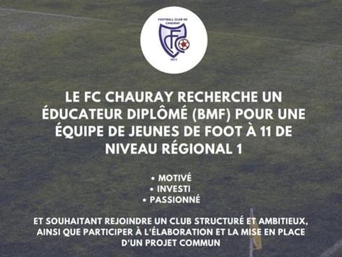 Le FC Chauray Recrute
