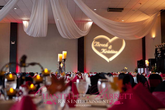 R&S Entertainment The Wedding Event Company Name Gobo at Heston Hills_Lighting