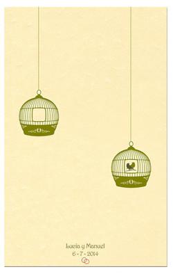Recuerdo de boda solidario Pájaros