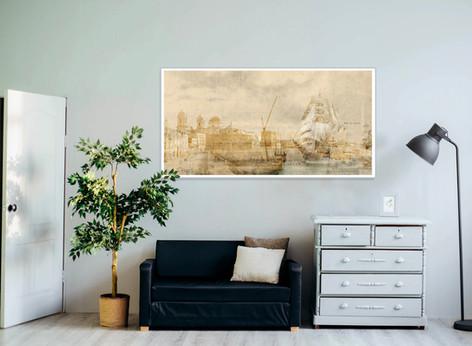 Diseño dibujo y collage Cádiz