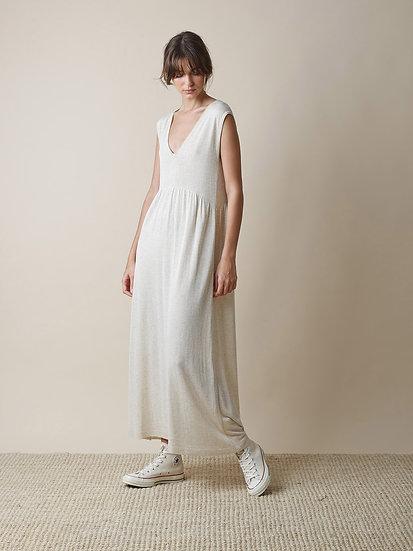 Vestido Branco de Malha Fluido