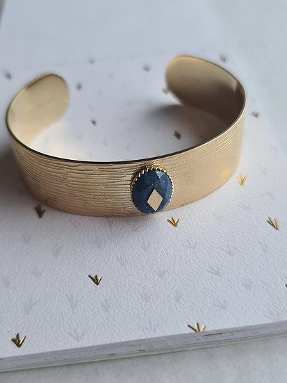 Pulseira Riscas Lápis Lazuli