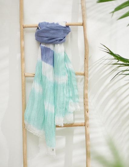 Lenço Tye-Dye Azul