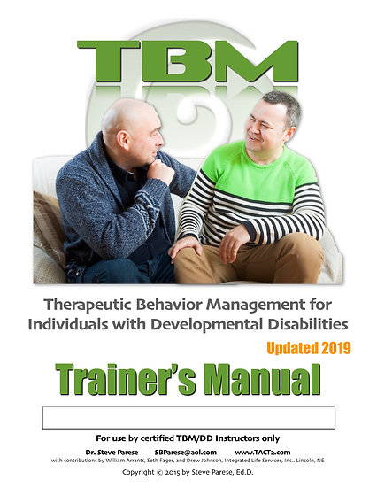 TBM DD Trainer Manual (rev 2019)