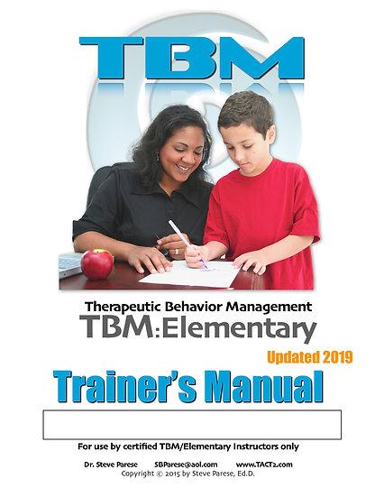 TBM Elementary Trainer Manual (rev 2019)