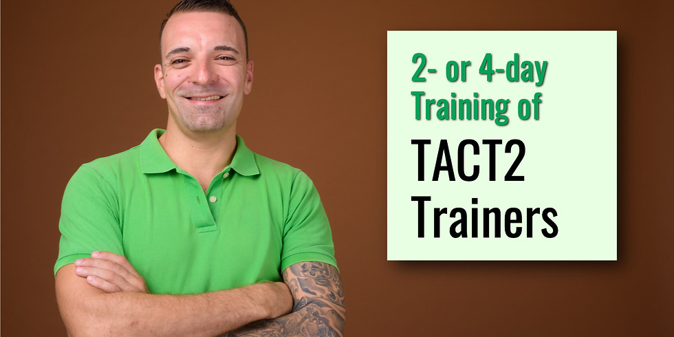 July 28-29, 2020 TACT2 ToT in Baltimore, MD