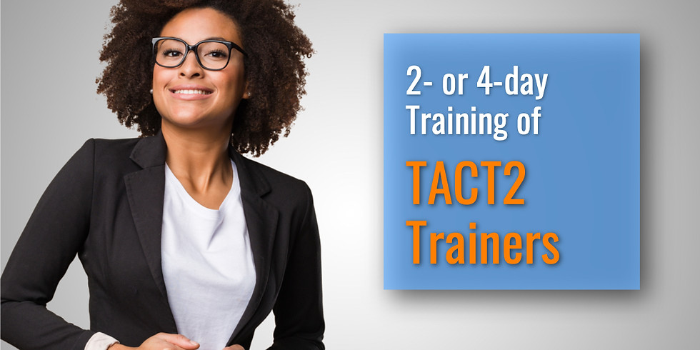 August 5-8, 2019  TACT2 ToT in Baltimore, MD