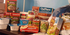 Pantry items from the client choice food pantry.