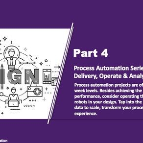 Process Automation Series Part 4 - Deliver, Operate & Analytic