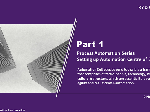 Process Automation Series Part 1 - Automation CoE