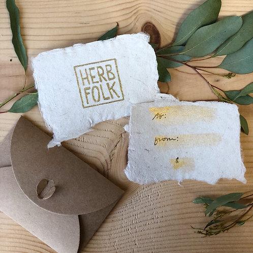 Herb Folk Gift Certificate