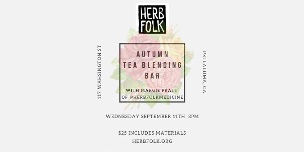 Autumn Tea Blending Bar