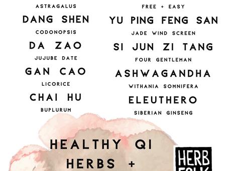 Healthy Qi Herbs + Formulas