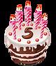 cute-cartoon-5-year-birthday-with-chocol