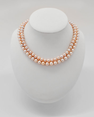 "16"" and 18"" Pink Freshwater Pearl Necklace 8.0-8.5 mm"