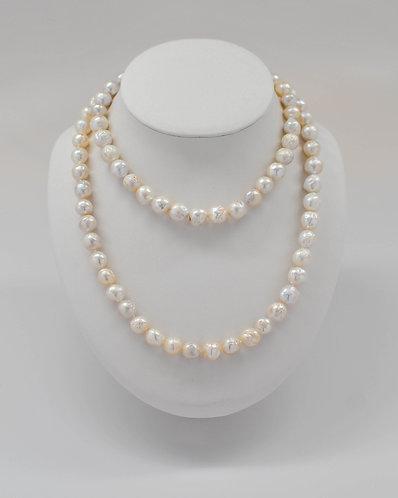 "36"" Metallic Wrinkle Edison Pearl Necklace 8-11 mm"