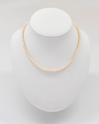 "17"" White Freshwater Pearl Necklace 4.5-5.5 mm"